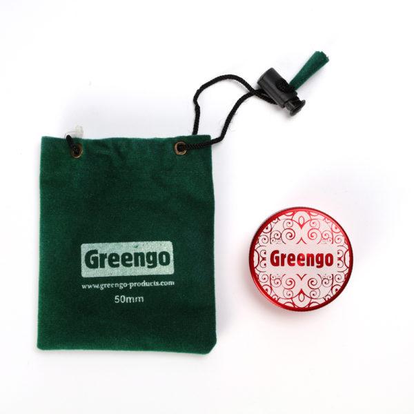 Greengo Aluminium Grinder - Red (Small) 2