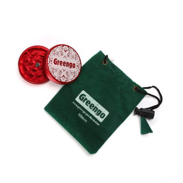 Greengo Aluminium Grinder - Red (Small) 3