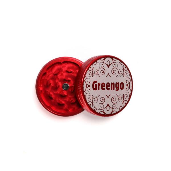 Greengo Aluminium Grinder - Red (Small) 1