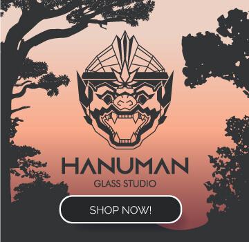Hanuman Glass Banner
