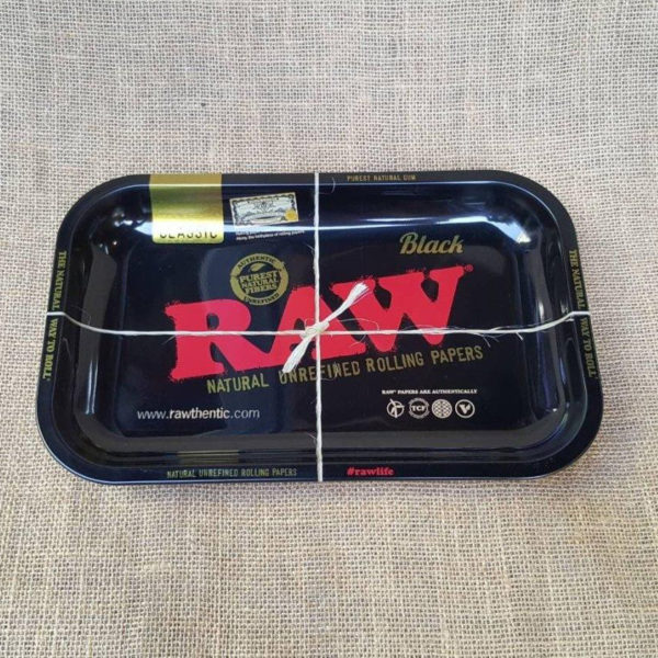 RAW Black Metal Rolling Tray - Smal 1