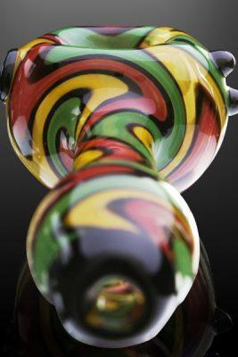 Hurricane Rasta Glass Pipe