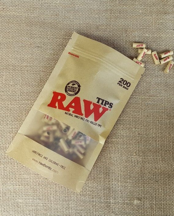 RAW Pre-rolled Tips in Bag - 200 Tips 1