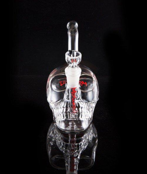 Skull glass bong frontside